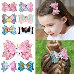 $enCountryForm.capitalKeyWord Australia - 2019 NEW Unicorn Wing Hair Accessories for Girls Children Princess Glitter Hair Bows Clips Handmade Hairpins Cute Kids Headdress