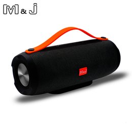 iphone stereo mic Australia - M&J E13 Bluetooth Speaker Wireless Portable Stereo Sound Deep Bass 10W System MP3 Music Audio AUX With Mic For Android iphone Pc T191001