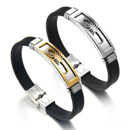 $enCountryForm.capitalKeyWord Australia - Punk Men's Bracelet Gold Silver Color Scorpion Bracelet Adjustable Length Black Silicone Bangle Father Day's Gift
