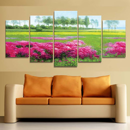 scenery spray painting Australia - High Definition Garden Scenery Spray Painting Home Music Restaurant Decoration Painting