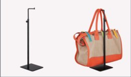 Trasporto libero 10 pz / pacco 7-tipo metallo specchio nero superficie espositore borsa supporto cremagliera zcy vendita calda in Offerta