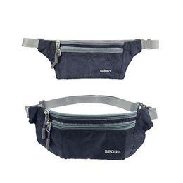 Черный дорожный чехол на молнии талии компактный безопасности деньги планшет талии регулируемый пояс сумки для мужчин, женщин # 331809