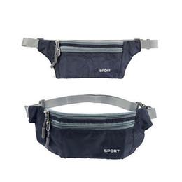 $enCountryForm.capitalKeyWord UK - Black Travel Pouch Zippered Waist Compact Security Money Tablet Waist Adjustable Belt Bags for Men Women #331809