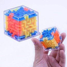 $enCountryForm.capitalKeyWord NZ - Mini 3D Maze Cube Transparent Beads Toys Three-Dimensional Labyrinth Ball Rotate The Rubik's Cube Children's Puzzle Intelligence Toys