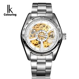 male white wrist watch Australia - Fully Automatic Mechanics Surface Two-sided Hollow Out Male Surface Man Leisure Time Wrist Watch Will Three Pin 98176g.