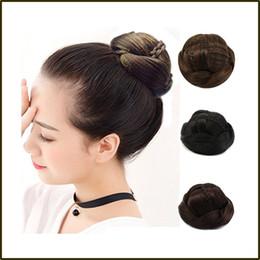 Hair Bun Braided NZ - Knitted Hair Braided Chignon Synthetic Hair Bun Donut Roller Hairpieces Hair Haar Accessories