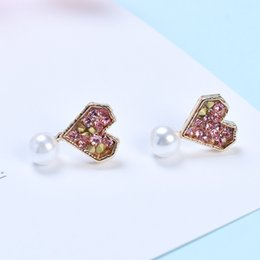 $enCountryForm.capitalKeyWord Australia - Fashion 925 Silver Needle Geometric Circle Loving Ear Nail Simple Girl Heart Drilling Earrings Free Shipping