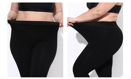 wholesale plus size warm leggings NZ - HOT! Plus Size Women Clothing Thermal Pants Elastic Thick Warm Cotton Trousers Large Knee Pads Waist Tread Foot Fashion Leggings Winter Wear