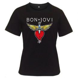 $enCountryForm.capitalKeyWord Australia - New 2017 Fashion New Design T Shirt Print Men's 100% Cotton Crew Neck Short Sleeve Bon Jovi Rock Band Heart Classic Logo Tee