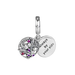 $enCountryForm.capitalKeyWord Australia - 2019 autumn 925 sterling silver pendant forever by your side, purple enamel charm bracelet Pandora necklace birthday Christmas gift