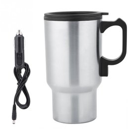 China 12v 450ml Car Heating Mug Hot Water Boiling Electric Kettle Travel Truck Thermal Insulation Heating Cup Car Teapot Boiler Bottle T190619 cheap 12v car mug suppliers