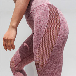 d9e7df527175d0 New Crazy Fit 2018 Leggings Sport Women Fitness Capri Leggings Sexy  Seamless Gym Tights Push Up Mesh Legging High Waist Yoga Pants