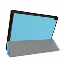 Discount stand pouch tab - 3 Folding Magnetic Wallet Leather Case For Lenovo Tab E10 X104 Tablet Luxury Colorful Ultra Slim Book Smart Stand Holder