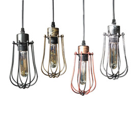 China Industrial Metal Ceiling Light Loft Vintage Chandelier Home Dining Bar Pendant Cage Lamp Fixture Suitable for Cafe Bar Home Decor cheap industrial cage light chandelier suppliers