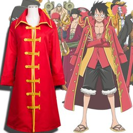 Wholesale one piece luffy cosplay resale online - One Piece Luffy Cos Sea Thief New World Luf Cloak Cloak Luffy One or Two Generation Cosplay Clothes