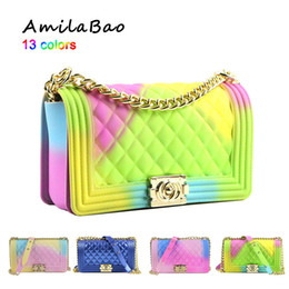 Beach Bags pockets online shopping - Crossbody Bags For Women Summer Candy Beach Luxury Bags Pvc Silicone Jelly Shoulder Messenger Bags Chains Girl Me939 J190702