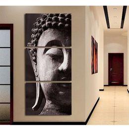 $enCountryForm.capitalKeyWord NZ - Modern Canvas Print Modular Painting Poster Picture 3 Panel Wall Art Religion Buddha For Home Decoration Kids Room Framework
