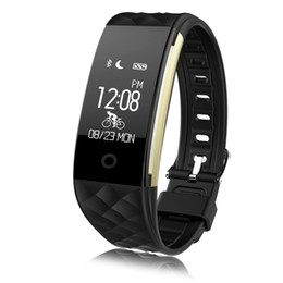 S2 Screen White NZ - S2 Smart Bracelet Watch Wristband Heart Rate Monitor IP67 Sport Fitness Tracker Smart Watches Bluetooth Color Screen Watch For Android IOS