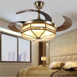 $enCountryForm.capitalKeyWord UK - Ceiling Fans Lamp LED 42 inch Copper motor Traditional ceiling fan light dimmer Remote control 110-220V