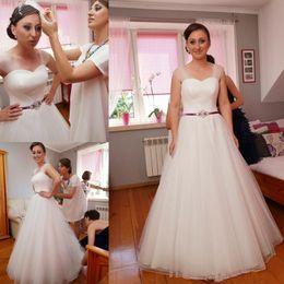 $enCountryForm.capitalKeyWord Australia - Sheer Mesh Top Lace Bohemia Sheath Wedding Dresses Tulle Lace Applique Garden Wedding Gowns Bridal Dresses robe de mariage