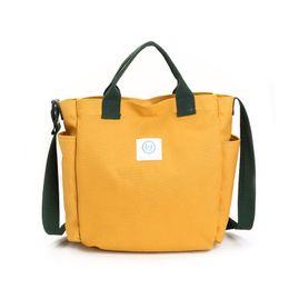 $enCountryForm.capitalKeyWord UK - new simple retro canvas girls casual hand bag three handles cross body shoulder bag women fashion letter solid color