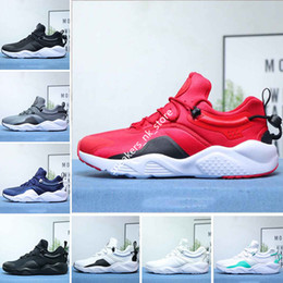 Cheaper Running Shoes Australia - Cheaper New Huarache 8.0 Running Shoes For Men Women All Black White Dark blue Grey Watermelon Powder flower Mens Trainers Sports Sneakers