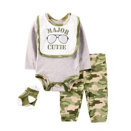 long socks outfit 2019 - New 2019 INS newborn outfits baby boys suits newborn baby boy clothes newborn rompers+pants+bib+socks baby infant boy de