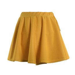 abc68d7c7 Wholesale Flared Skirt UK - Summer Women Mini Skirt Elastic Basic Stretchy  High Waist Lady Girl