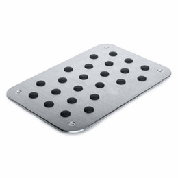 $enCountryForm.capitalKeyWord Australia - Universal Car Truck Floor Mat Carpet Heel Pad Plate Foot Pedal Rest Footrest Aluminum Alloy w Screw 3020CM