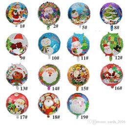 Balloons For Weddings NZ - 18inch Christmas Balloon 50pcs bag Foil Helium Balloon Toy Santa Claus Snowman for Birthday Wedding Christmas