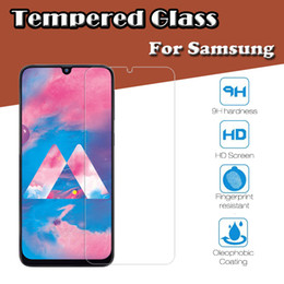 $enCountryForm.capitalKeyWord Australia - 9H Premium Transparent Tempered Glass Screen Protector Film Guard For Samsung A10 A20E A30 A40S A50 A60 A70 A90 M10 M20 M30 Shockproof