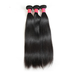 straightened hair NZ - Virgin Brazilian Hair Weave Bundles 8 to 26 Inches Hair Products 3 Bundle Deals Straight Human Hair Extension