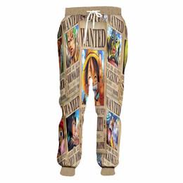 Cartoon 3d Sweatpants UK - Funny Japanese Anime Jogger Pants Men Women Cartoon ONE PIECE 3d Print Trousers Unisex Casual Sweatpants Custom Plus Size S-5XL