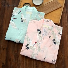 Wholesale kimono sleep resale online - Japanese Women s Yukata Kimono Robes Pajamas Sets Cotton Short Pants Nightgown Sleep Bathrobe Leisure Wear Homewear Traditional