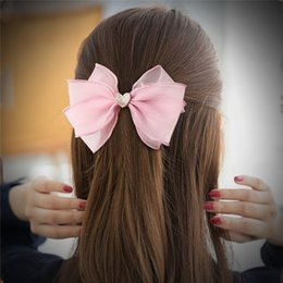 wholesale duckbill hair clips Australia - New Flashing sequins lace bow Princess Girl hair clips hairband 4 color Duckbill hair barrettes hair rope jewelry Wholesale AJJ288