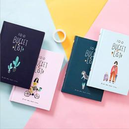 $enCountryForm.capitalKeyWord Australia - Cute Kawaii Korean Stationery Hand Books 100 Bucket To Do List Notebook A5 Planner Diary Journal Agenda Filofax Notepad Gift Set T8190615