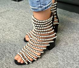 $enCountryForm.capitalKeyWord Australia - Hot Sale- style pearls bing open toe sandasl back zip flat heel genuine leather women high quality sandals summer large size shoes 2017