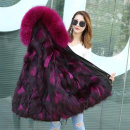 Women Raccoon Fur Parka NZ - raccoon fur coat winter Parka women real fox fur overcoat outwear windbreaker thicking warm new arrival M L XL XXL