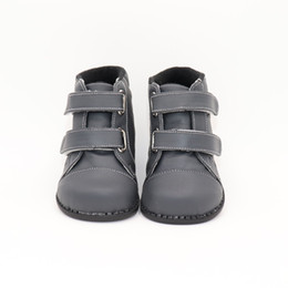 leather school shoes for boys NZ - Tipsietoes Brand High Quality Leather Stitching Kids Children Soft Boots School Shoes For Boys 2018 Autumn Winter Snow Fashion J190508
