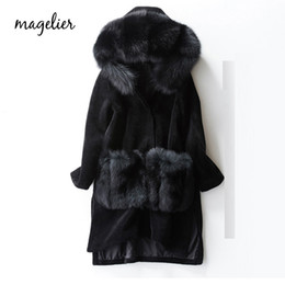 $enCountryForm.capitalKeyWord NZ - MAGELIER Natural Real Sheep Shearling Genuine Fox Fur Sheep Skin Fur Coat Winter Long Thick Outerwear Coats Female LD-7710