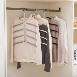 $enCountryForm.capitalKeyWord Australia - oomall Stainless Steel Hangers For Wardrobe Multilayer Fish Bone Shape Non Slip Hanger Clothing Storage Holders Racks Organizer Hoomall S...