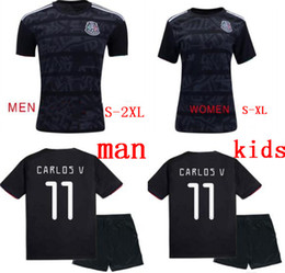 ae29ee1d3 Soccer kidS mexico online shopping - Mexico kids blackout Gold cup soccer  jerseys H LOZANO CHICHARITO