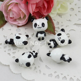 $enCountryForm.capitalKeyWord NZ - 50pcs lot Resin Animal Lesser Panda Pendants & Charms For Children Diy Jewelry Necklace & Bracelet Accessories 21x17mm(k00651) J190616