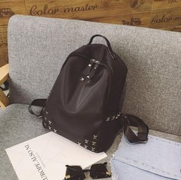 $enCountryForm.capitalKeyWord Australia - Wholesale Punk Style Rivet Backpack Fashion Men Women Cheap Knapsack Shoulder Bag Brand Designer High-end Waterproof School Bag
