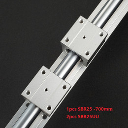 $enCountryForm.capitalKeyWord Australia - 1pcs SBR25-700mm support rail linear guide + 2pcs SBR25UU linear bearing blocks for cnc router