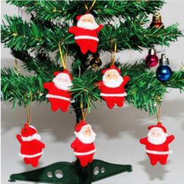 Folk Art Christmas Australia - 6pcs Christmas Santa Claus Ornaments Festival Party Xmas Tree Hanging Decoration