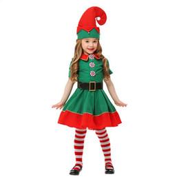 $enCountryForm.capitalKeyWord Australia - Hot Christmas Cosplay Costume New Children's Christmas Elf Costume Boy and Gril Green Festive Lovely Theme Costume