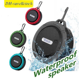 $enCountryForm.capitalKeyWord Australia - C6 Potable Wireless Bluetooth Speaker Waterproof Shower Speaker Drive Bult-in Stereo Music Player Snap Hook Suction Cup With Package
