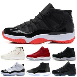 Chinese  2019 New 11 XI Elite Basketball Shoes Men 11s Concord 45 Bred Designer Sneakers High Quality Online Men Women Sports Shoes 7-13 manufacturers