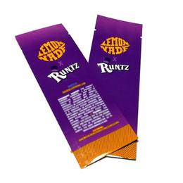 Zip lock pouches online shopping - LEMON NADE Runtz Bag Mylar Pouch zip lock airtight child proof smell proof Packaging preroll zipper bags for pre rolls DHL Free